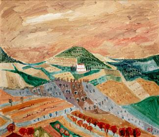 Der Hügel Colle Val d'Elsa