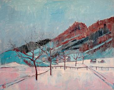 Wintermorgen, Morgarten